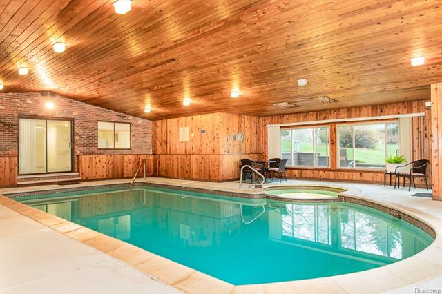 The indoor pool is LOW maintenance without having to worry about leaves and debris.